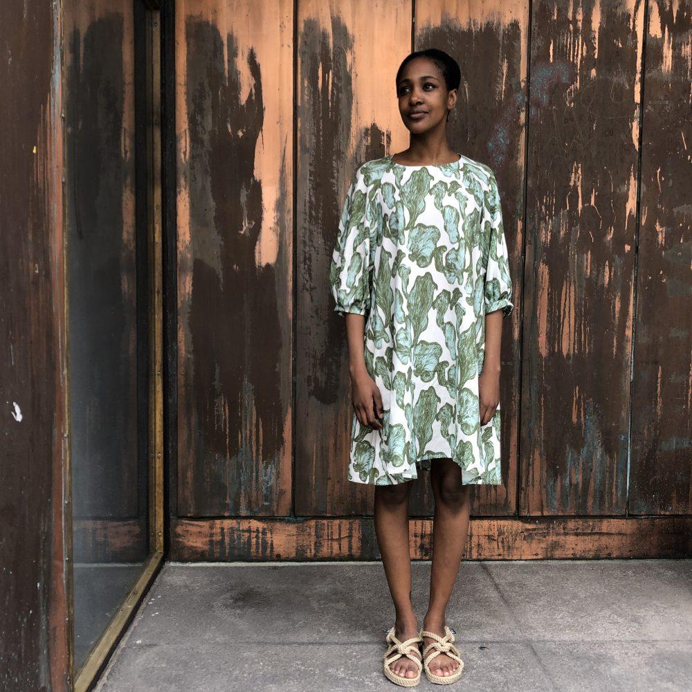 Vimma Dress Senni Shrooms off-white-green Onesize - Dress, off-white-green, Onesize, Senni, Shrooms