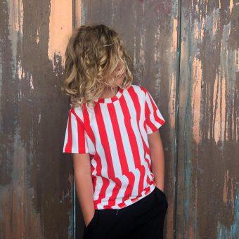 Vimma t-shirt LIU Crease red-white 80-140cm - 80-140cm, Crease, LIU, red-white, t-shirt