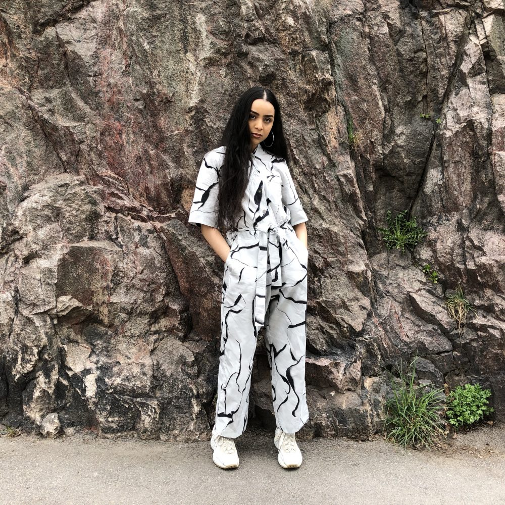 Vimma UUTTA Jumpsuit HARRI Burned black-white S-L - black-white, Burned, HARRI, S-L, UUTTA Jumpsuit
