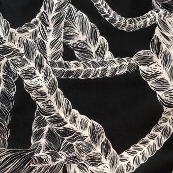 Vimma puuvillaneulos letti black joustocollege - black, braid, joustocollege, puuvillaneulos