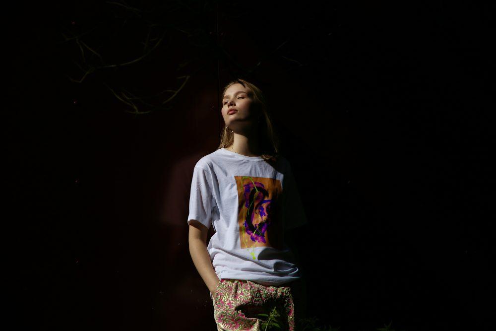 Vimma t-shirt RAUNI Graffiti Hearts orange-lilac one size - Graffiti Hearts, one size, orange-lilac, RAUNI, t-shirt