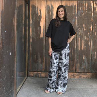Vimma trousers ILONA letti black XS-L - black, braid, ILONA, trousers, XS-L