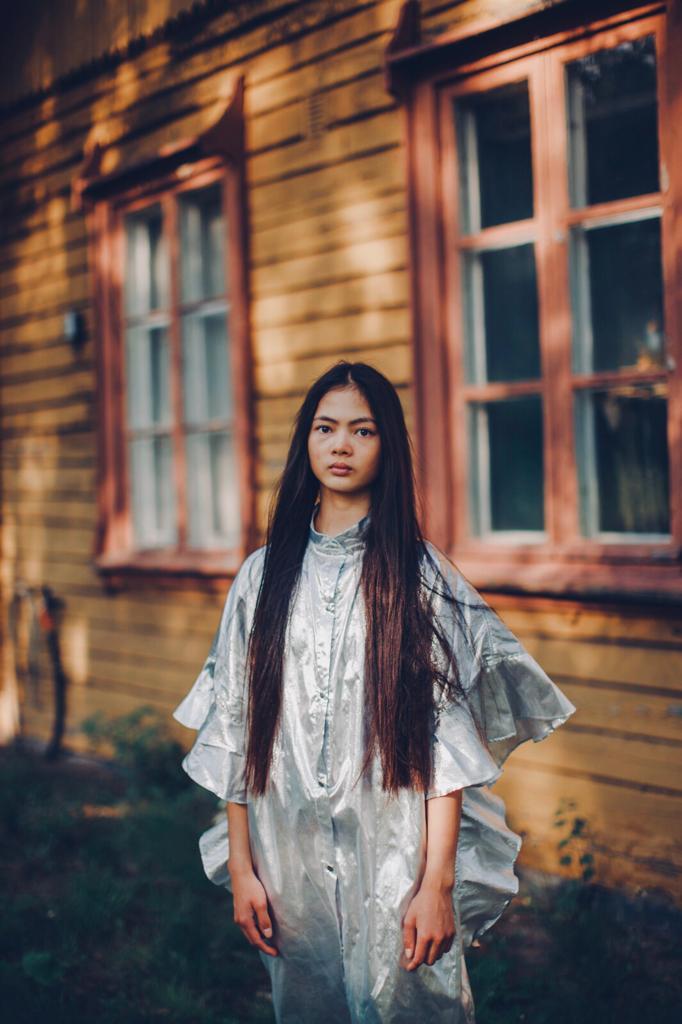 Vimma Ruffle Dress IRINA Special Silver Onesize - IRINA, Onesize, Ruffle Dress, Silver, Special