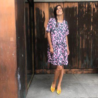 Vimma Tunic dress KUKKA Hanami green-pink XS-L - green-pink, Hanami, KUKKA, tunic-dress, XS-L