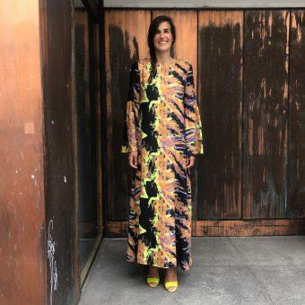 Vimma Maxi dress SARIANNA Digital lischen dark Onesize - dark, Digital lischen, Maxi dress, Onesize, sarianna