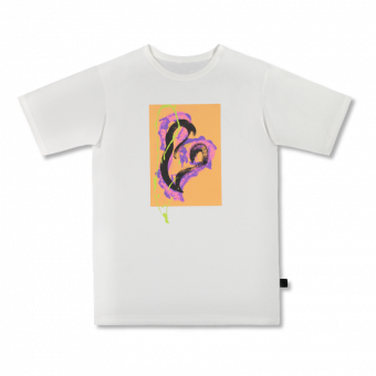 Vimma T-shirt Unisex RAUHA Graffiti Hearts orange-lilac Onesize - Graffiti Hearts, Onesize, orange-lilac, RAUHA, T-shirt / Unisex
