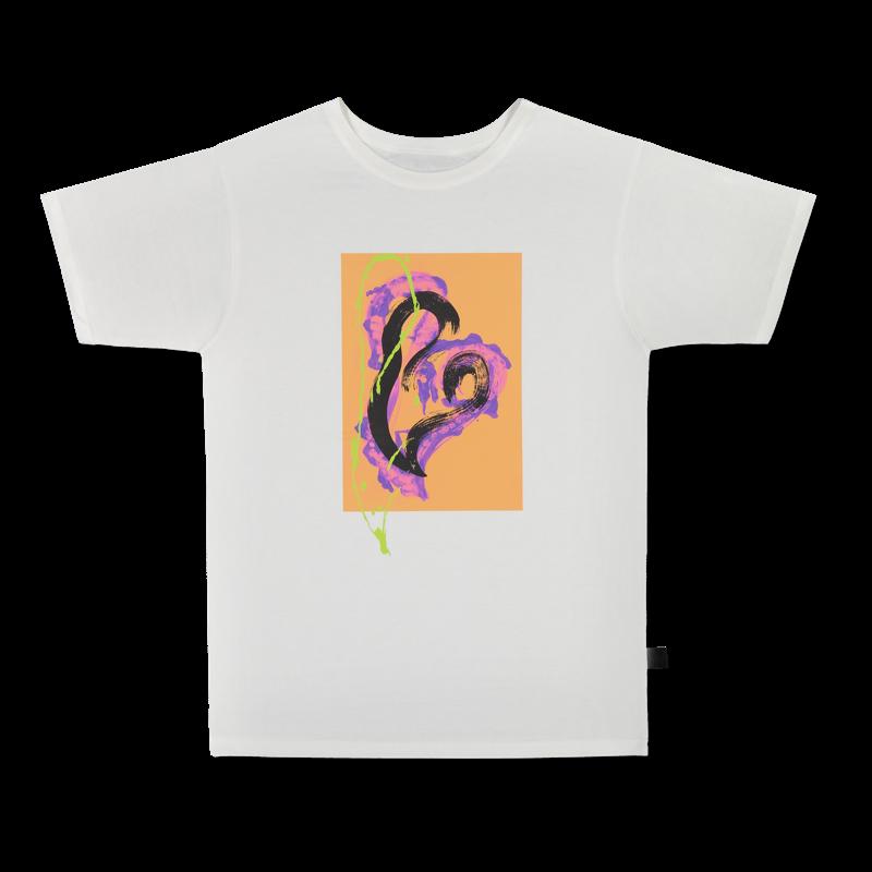 Vimma t-shirt RAUNI Graffiti Hearts turquoise one size - Graffiti Hearts, one size, RAUNI, t-shirt, turquoise