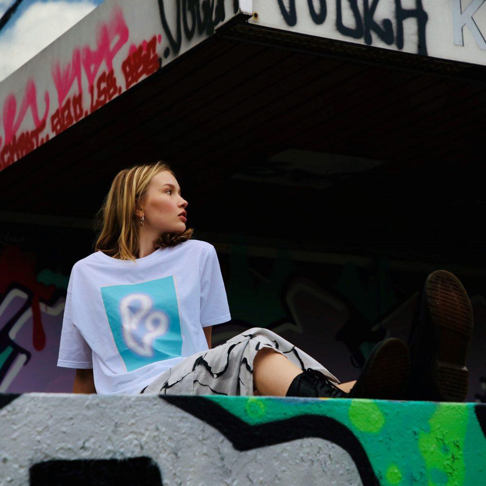 Vimma T-shirt Unisex RAUHA Graffiti Hearts turquoise Onesize - Graffiti Hearts, Onesize, RAUHA, T-shirt / Unisex, turquoise
