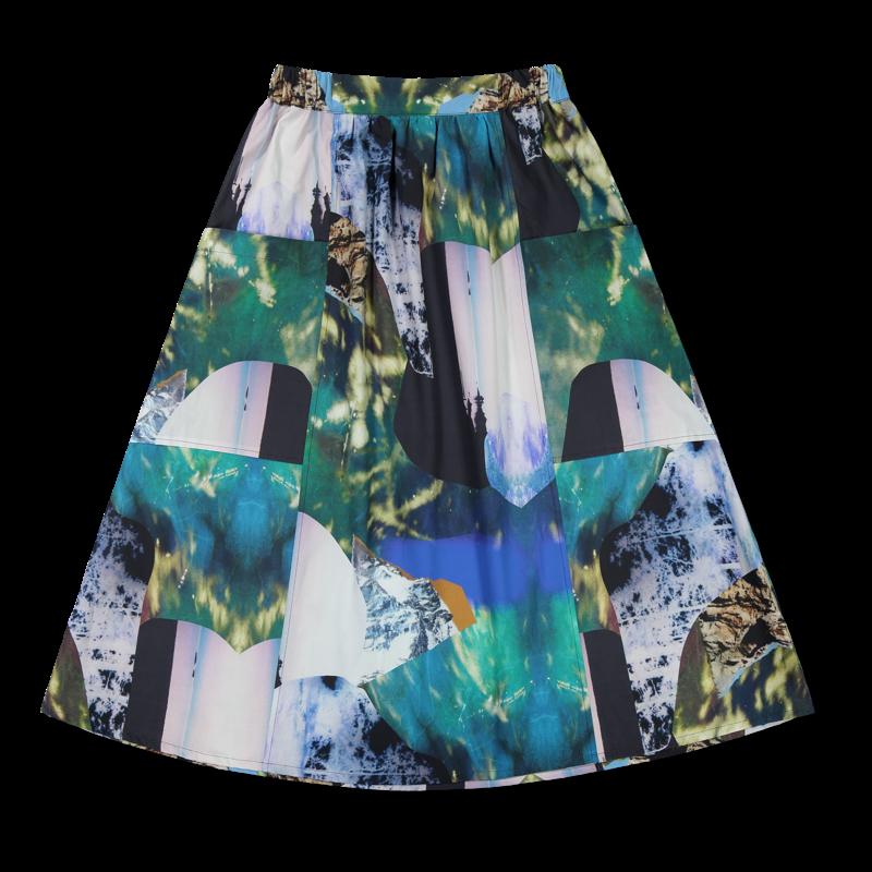 Vimma Skirt SANELMA Mystic wood dark Onesize - dark, Mystic wood, Onesize, SANELMA, Skirt