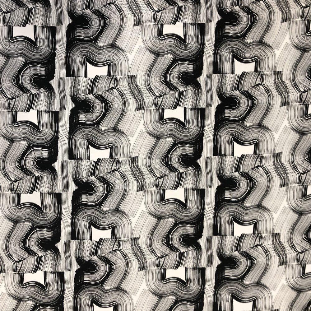 Vimma Cotton textile Veto black-white Vowen cotton - black-white, Cotton textile, Veto, Vowen cotton