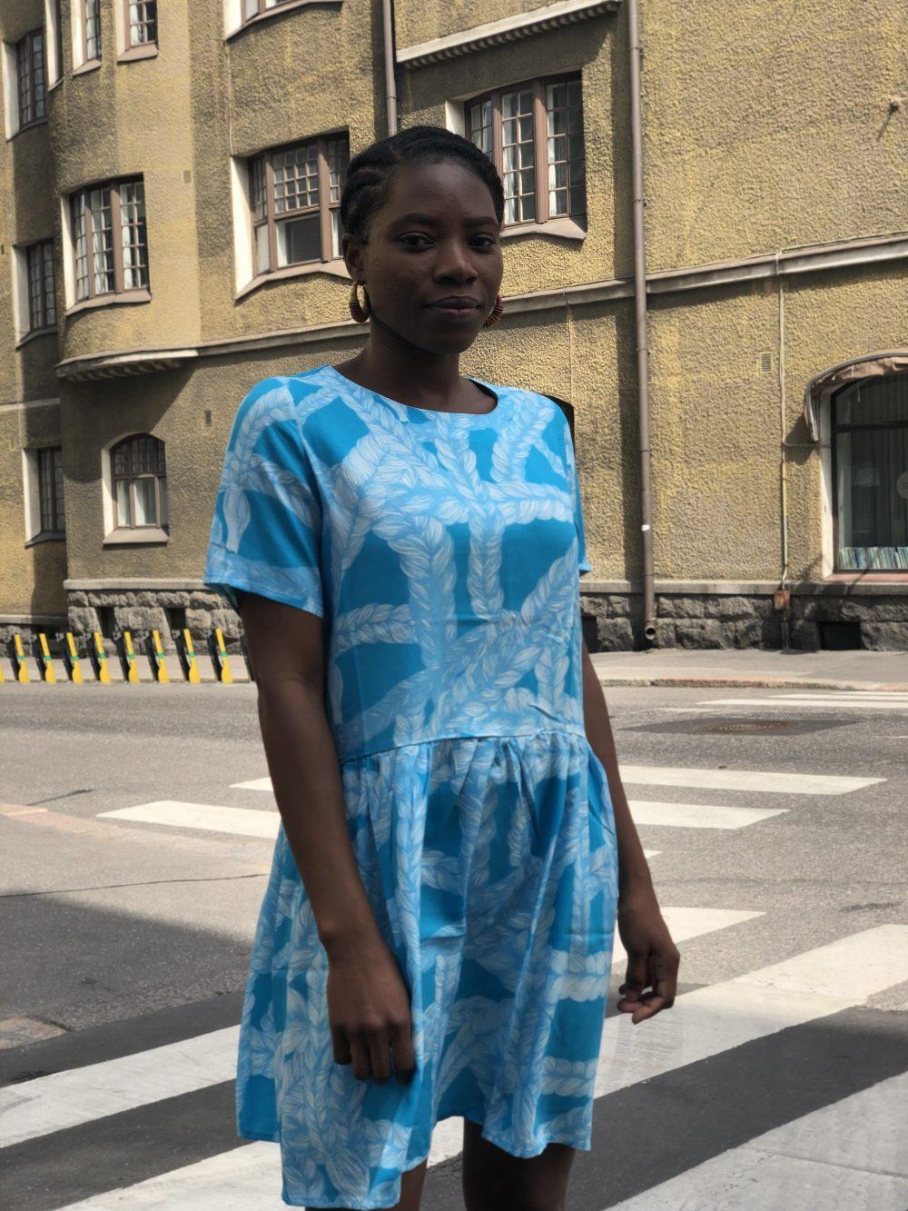 Vimma t-shirt LIU Ruudukko blue 80-140cm - 80-140cm, blue, LIU, Ruudukko, t-shirt
