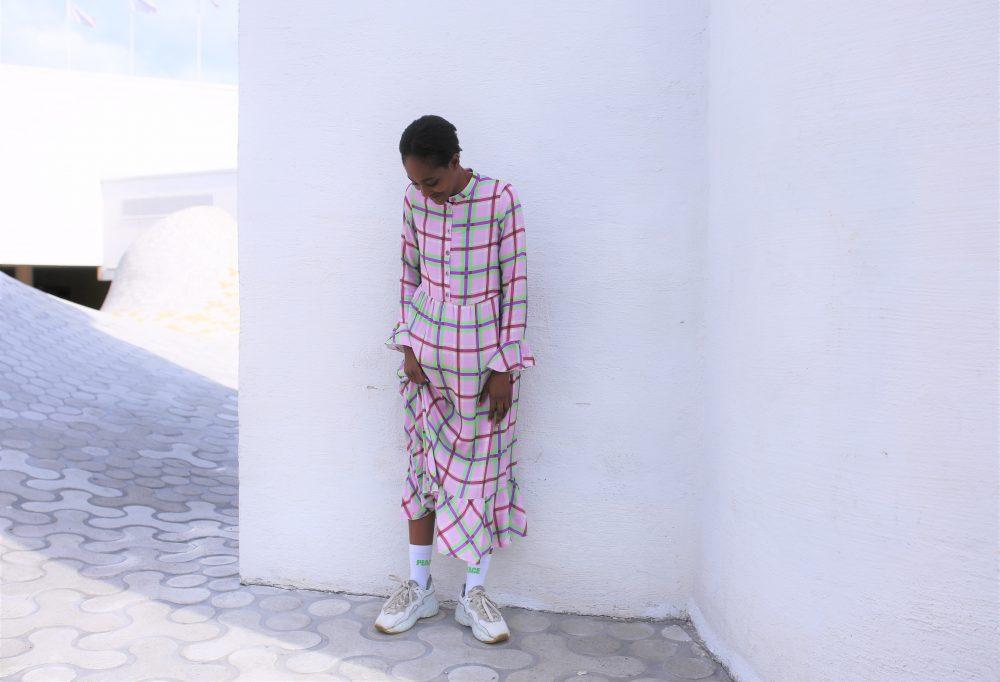Vimma Frilla Dress TUUVA Tulikukka pink XS-L - Frilla Dress, pink, Tulikukka, TUUVA, XS-L