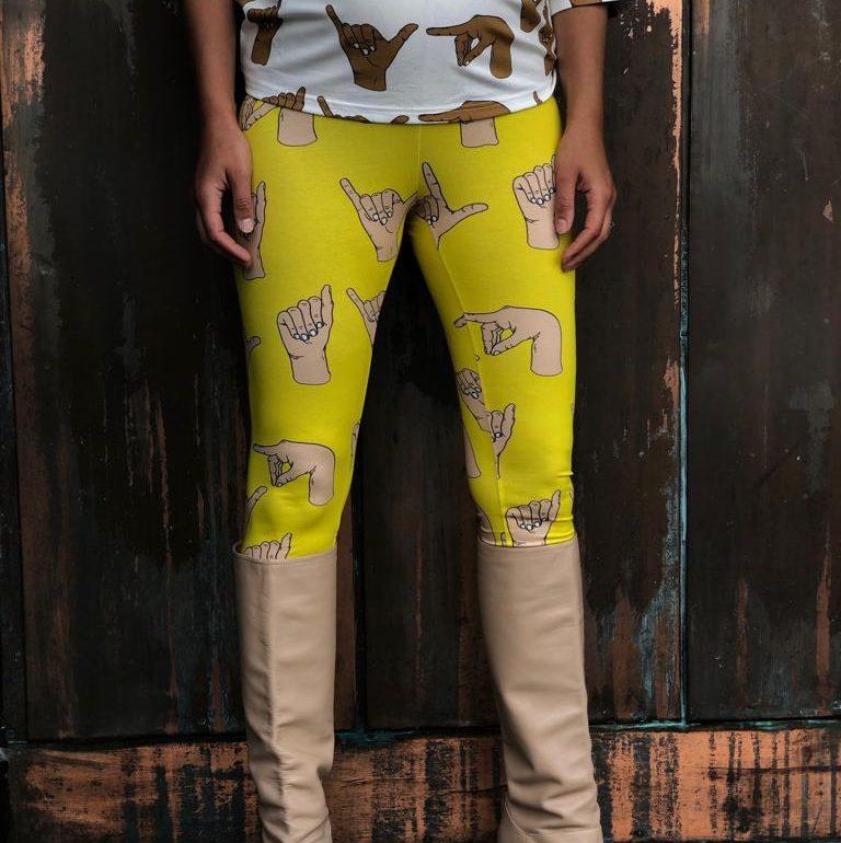 Vimma leggings KAINO play yellow XS-XL - KAINO, leggings, play, XS-XL, yellow