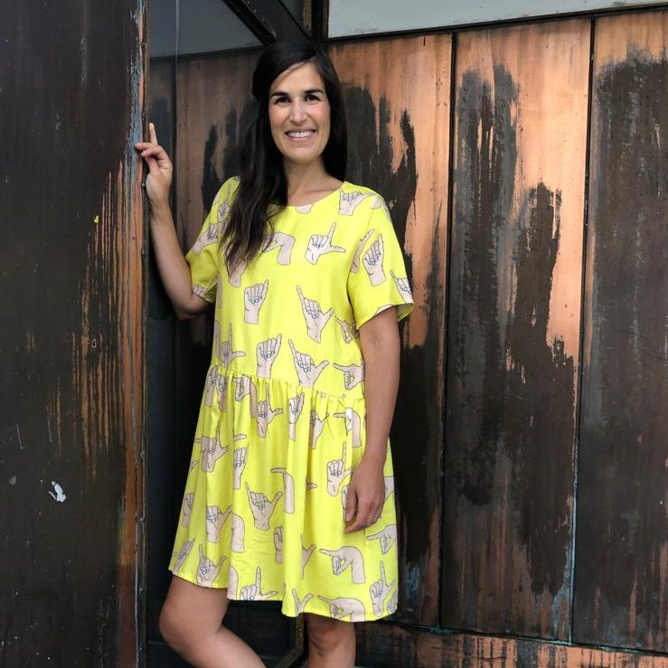 Vimma Tunic dress KUKKA play yellow XS-L - KUKKA, play, tunic-dress, XS-L, yellow