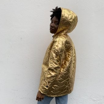 Vimma Hooded Jacket TAUNO metallic golden Onesize - golden, Hooded Jacket, metallic, Onesize, TAUNO