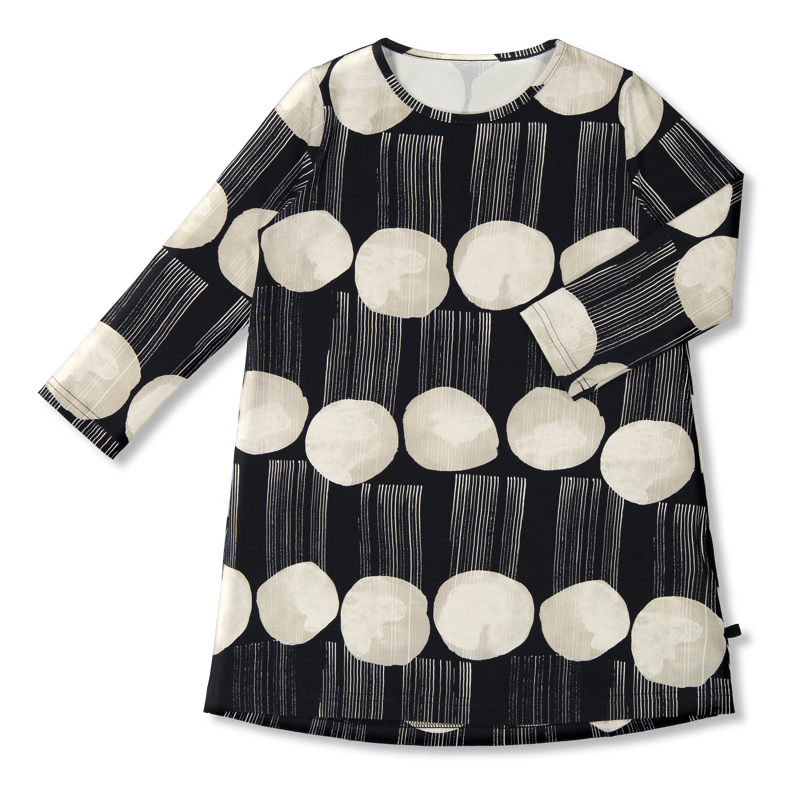 Vimma Tunic dress RUU Rain dance black-white 80-140cm - 80-140cm, black-white, Rain dance, RUU, tunic-dress