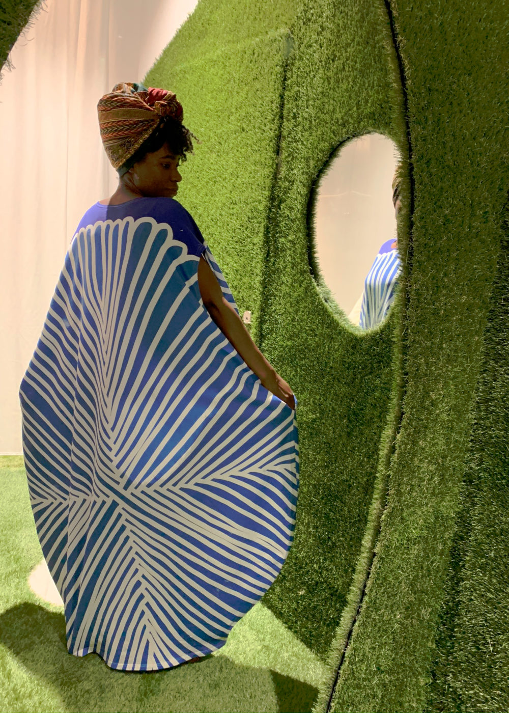 Vimma Dress STIINA Leaf blue one size - blue, Dress, Leaf, one size, Stiina