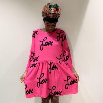 Vimma Tunic dress KUKKA winter Love pink XS-L - KUKKA winter, love, pink, tunic-dress, XS-L