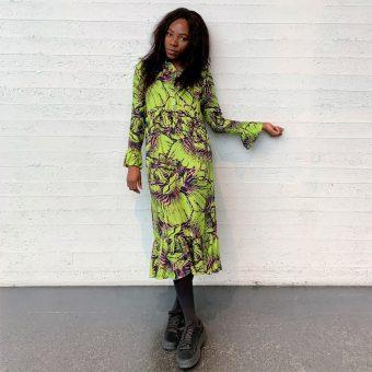 Vimma Frilla Dress TUUVA Onnenruusu Keltainen S-L - (keltainen), Frilla Dress, Onnenruusu, S-L, TUUVA