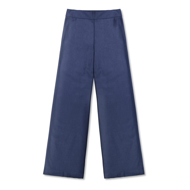 Vimma trousers ILONA one-colored blue XS-XL - blue, ILONA, one-colored, trousers, XS-XL