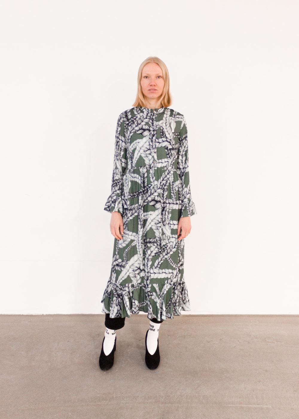 Vimma Frilla Dress TUUVA Letti Naava S-L - braid, Frilla Dress, Naava, S-L, TUUVA