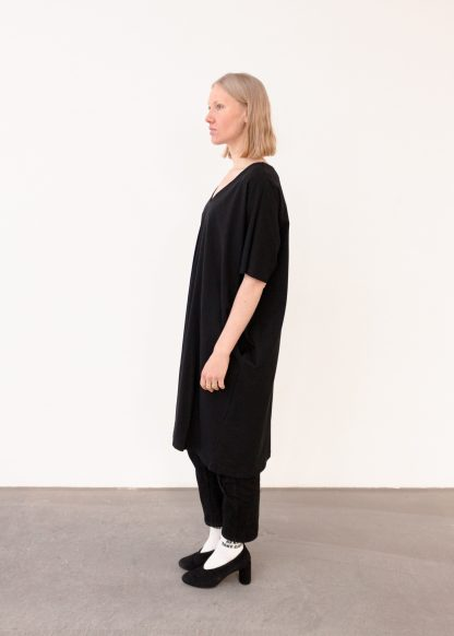 Vimma V-neck dress VEERA yksivärinen musta Onesize - black, Onesize, V-neck dress, VEERA, yksivärinen