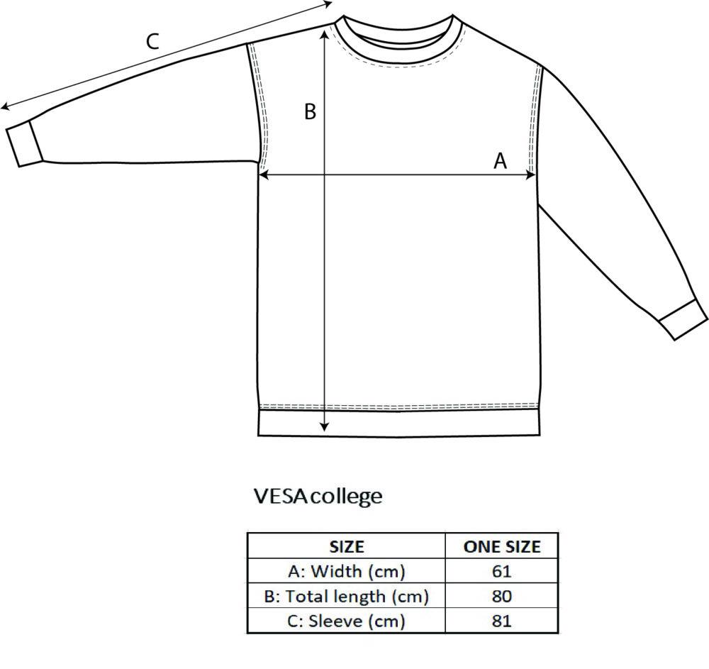 Vimma Oversize College VESA one-colored grey Onesize - grey, one-colored, Onesize, oversize-college, VESA