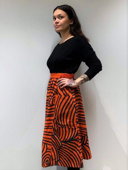 Vimma Skirt SANELMA Wave punainen Onesize - Onesize, red, SANELMA, Skirt, Wave