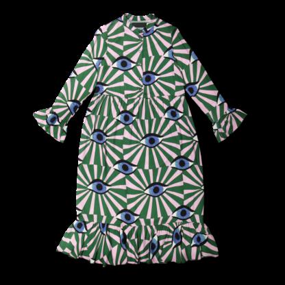 Vimma Frilla Dress TUUVA Äidin valvova silmä green S-XL - äidin valvova silmä, Frilla Dress, green, S-XL, TUUVA