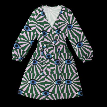 Vimma Wrapped Dress INKERI äidin valvova silmä vihreä Onesize - äidin valvova silmä, green, INKERI, Onesize, Wrapped Dress