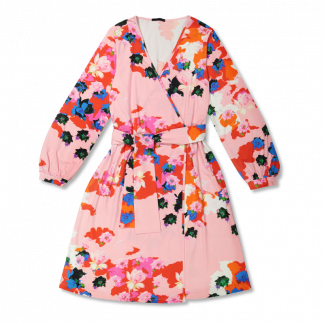 Vimma Wrapped Dress INKERI Flowerporcelaine punainen Onesize - Flowerporcelaine, INKERI, Onesize, red, Wrapped Dress