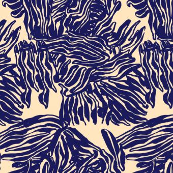Vimma Cotton textile Roots Sininen woven cotton - Cotton textile, Roots, sininen, woven cotton